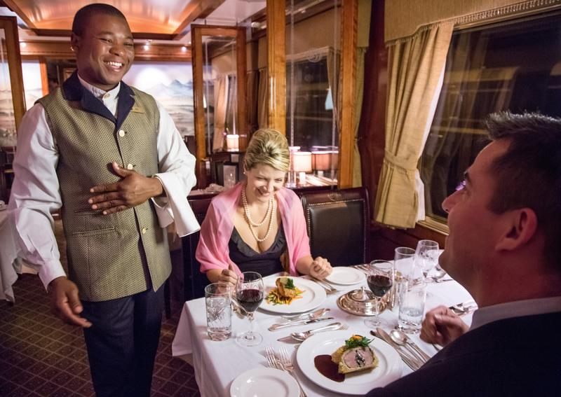Fine Dining on The Blue Train